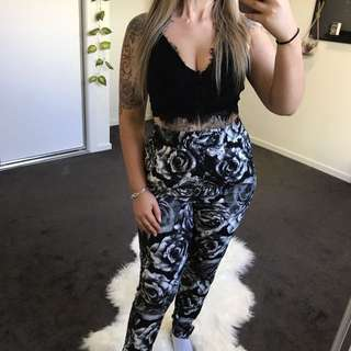 BLACK ROSE PANTS