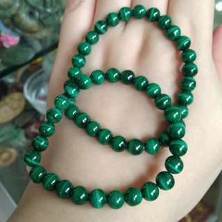 🎇$28 Fixed Price Promo - Natural Lucky Malachite Beads Bracelet🎇
