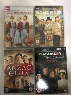 Home Fires / Call Midwife / Casualty 1900s / Anzac Girls