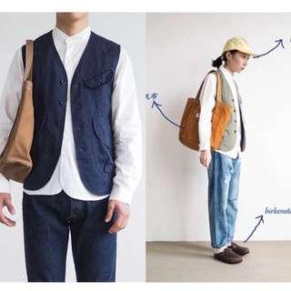 全新 日系工業風 工作背心 中性 男女款 日系穿搭