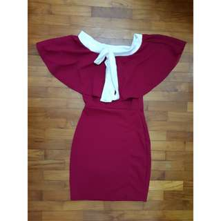 Erich Red Off Shoulder Dress