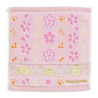 Japan Sanrio Pompompurin Petit Towel Handkerchief (cherry tree)