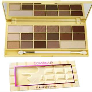 I Heart Makeup Naked Chocolate Eye Shadow Palette Makeup Revolution - Two Faced Dupe