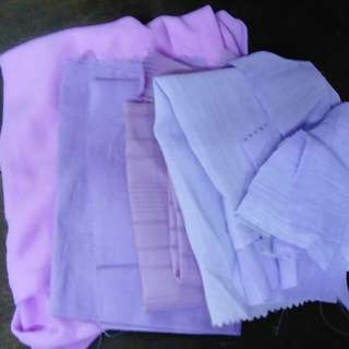 Various shades of purple-assorted fabric pieces