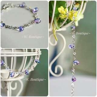 🈹3月優惠《幻影紫藍》琉璃珠手鏈 包郵 現貨 實拍
