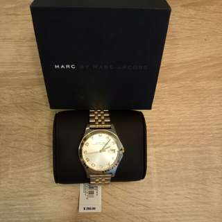 Marc Jacobs Woman's Two Tone Stainless Steel Bracelet Watch