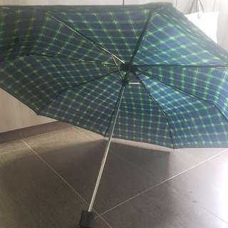 Green blue umbrella