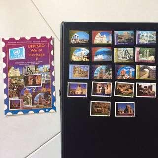 Stamps - Unesco World Heritage II (Set of 18 Stamps)