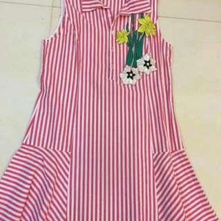 Dress DISTANCE COCOYA Pink Branded mirip MiAMI BEACH yang Biru Original Import Baju Wanita
