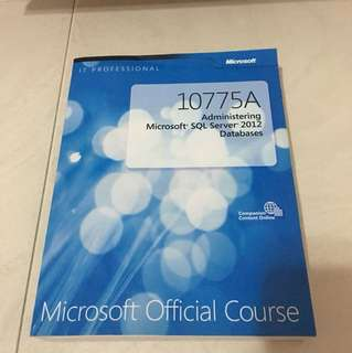 10775A administering microsoft SQL server 2012 databases