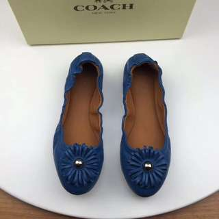 Coach ballet flats / coach women's shoes - blue