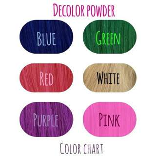 Decolor Hair Color Powder