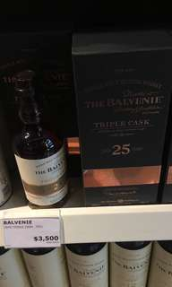 Balvenie 25年(如圖減$500)