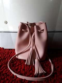 [Preloved] Miniso Bucket Bag Pink