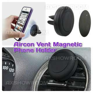 Universal Air-Con Vent Handphone Magnetic Holder