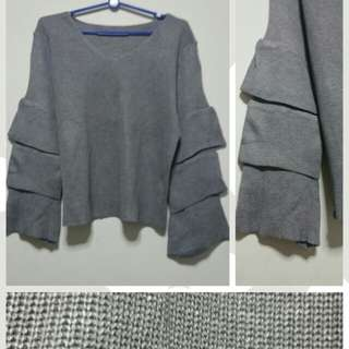 New Knitted Grey Top (#SA009)