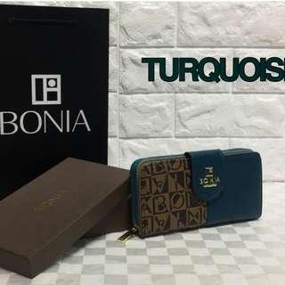 Bonia Purse Turquoise Color