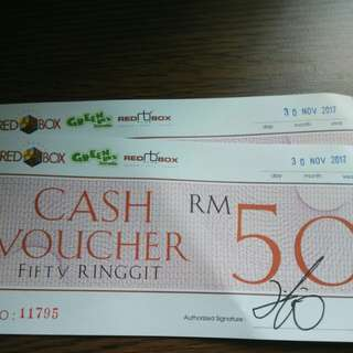 Red box karaoke rm50 cash voucher