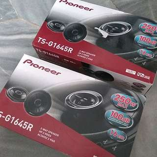 "Pioneer 2-way Coaxial 6.5"" Speakers TS-G1645R x 4 units"