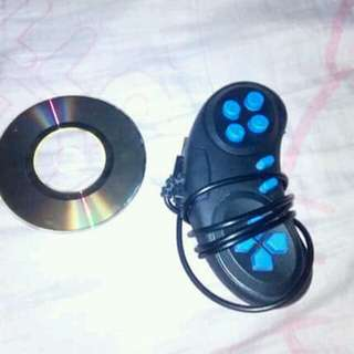 Cd game with controller