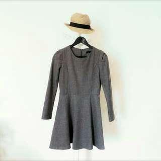 BNWOT Korea Mercy Grey Sleeved Dress