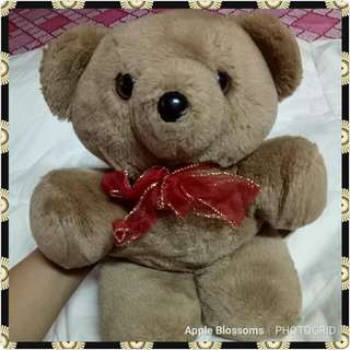 The Heritage Collection Brown teddy with red scarf