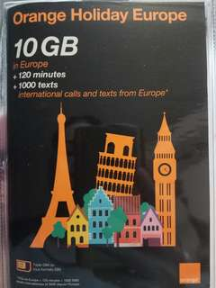 10GB Orange holiday Europe 14days sim card