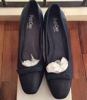 Pabder heeled shoes - navy blue (size 37)