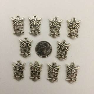 Silver Owl Charms