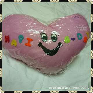 Pink Pillow with Birthday Greeting