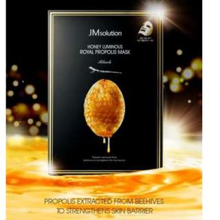 JM solution honey luminous royal propolis mask 10 sheets per box