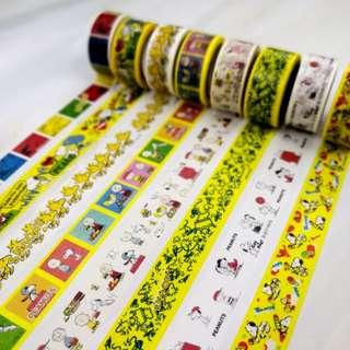 黃色 Snoopy MT 紙膠帶 分裝 Yellow Snoopy Washi Tape Sample