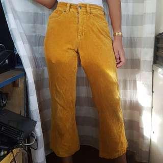 Mustard Corduroy Pants