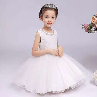 Fashion baby girl Princess wedding Dress