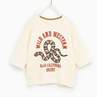 [preorder] Zara Kids (size 9yrs & 10yrs only) snake tshirt