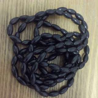 Black beads long accessory
