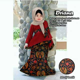 DRIANA 3IN1 GAMIS SET KIDS MAROON