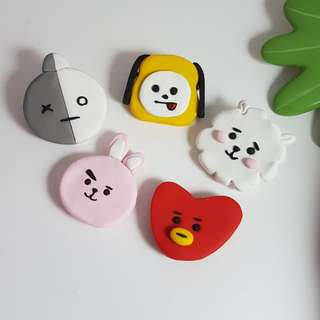 BT21 Keychains, Magnets & Pins (polymer clay)