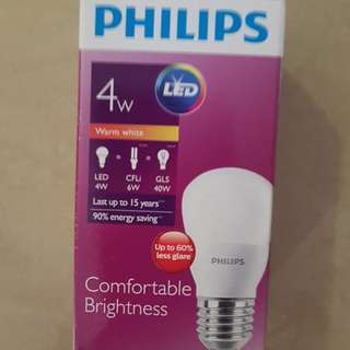 Philips 4W warm white led bulb for sale