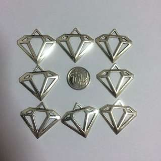 Silver Diamond Charms