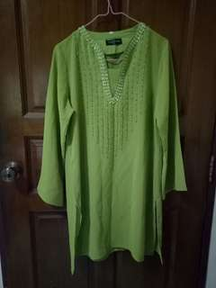 Green Translucent Detailed Top