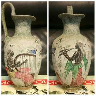 高23cm希臘彩繪盛水陶瓶