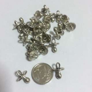 Silver Baby Pacifier Charms
