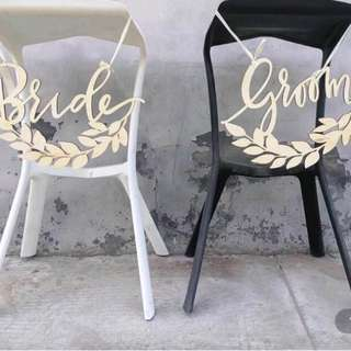 {suitcaseweddings} Rental - Bride & Groom Sign