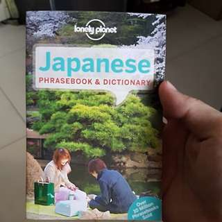 Japanese phasebook and dictionary by lonely planet