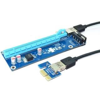 PCI-e 1x to 16x slot adapter riser