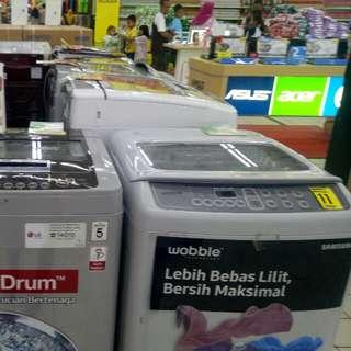 Berbagai merk mesin cuci terbaru bisa di cicil free 1x angsuran