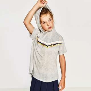 [preorder] Zara Kids (13yrs only) light sweatshirt with hood