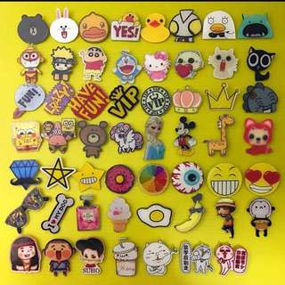 Cute Acrylic Cartoon Pin Badges
