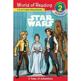 [Brand New] Star Wars 3-in-1 Listen-Along Adventure TalesWorld of Reading: Level 2 CD Included  By: Lucasfilm Book Group